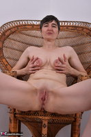 Hot Milf. Leather Corsage In Wicker Chair Pt2 Free Pic 19