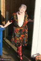 ValGasmic Exposed. Silky Dress Free Pic 4