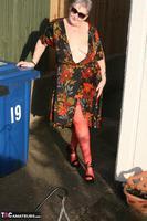ValGasmic Exposed. Silky Dress Free Pic 5