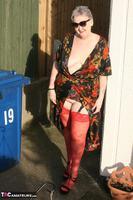 ValGasmic Exposed. Silky Dress Free Pic 6