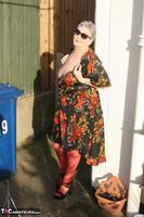 ValGasmic Exposed. Silky Dress Free Pic 7