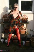 ValGasmic Exposed. Silky Dress Free Pic 15