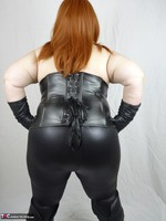 Mrs Leather. Leather trousers strip off Free Pic 5