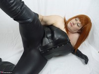 Mrs Leather. Leather trousers strip off Free Pic 7