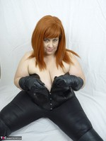 Mrs Leather. Leather trousers strip off Free Pic 8