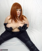 Mrs Leather. Leather trousers strip off Free Pic 9