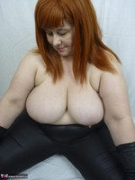 Mrs Leather. Leather trousers strip off Free Pic 11