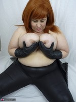 Mrs Leather. Leather trousers strip off Free Pic 12
