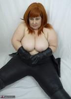 Mrs Leather. Leather trousers strip off Free Pic 13