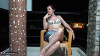 Diana Ananta. Smoking On The Balcony Free Pic 5