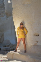 Sweet Susi. Yellow Net Top Free Pic 1