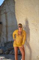 Sweet Susi. Yellow Net Top Free Pic 5