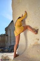 Sweet Susi. Yellow Net Top Free Pic 9