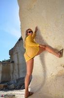 Sweet Susi. Yellow Net Top Free Pic 10