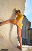 Sweet Susi. Yellow Net Top Free Pic 13