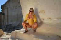 Sweet Susi. Yellow Net Top Free Pic 14