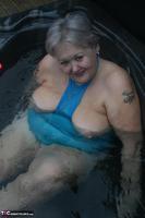 ValGasmic Exposed. Wet Blue Dress Free Pic 5