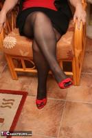 Kinky Carol. Stockings, Red & Black Pt1 Free Pic 3