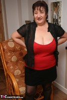 Kinky Carol. Stockings, Red & Black Pt1 Free Pic 8