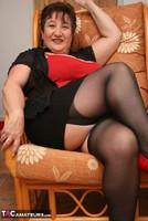 Kinky Carol. Stockings, Red & Black Pt1 Free Pic 12