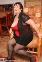 Kinky Carol. Stockings, Red & Black Pt1 Free Pic 15
