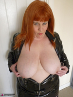 Mrs Leather. PVC Dress Free Pic 14