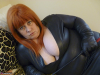 Mrs Leather. Big Tits On Bed Free Pic 3
