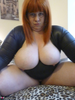 Mrs Leather. Big Tits On Bed Free Pic 11