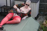 ValGasmic Exposed. Red Stockings Free Pic 9