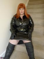 Mrs Leather. Shiny PVC Hobble Skirt Free Pic 4