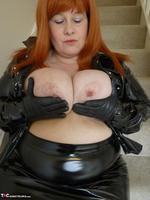 Mrs Leather. Shiny PVC Hobble Skirt Free Pic 8