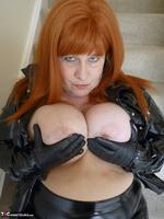 Mrs Leather. Shiny PVC Hobble Skirt Free Pic 9