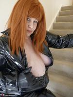 Mrs Leather. Shiny PVC Hobble Skirt Free Pic 14