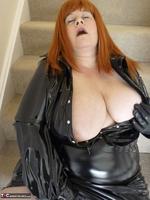 Mrs Leather. Shiny PVC Hobble Skirt Free Pic 16