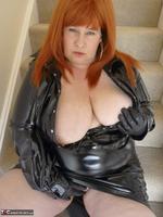 Mrs Leather. Shiny PVC Hobble Skirt Free Pic 17