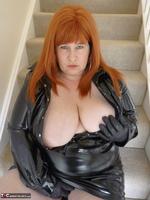 Mrs Leather. Shiny PVC Hobble Skirt Free Pic 18