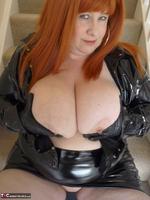 Mrs Leather. Shiny PVC Hobble Skirt Free Pic 20