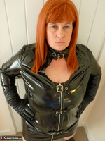 Mrs Leather. Follow Me In My PVC Up The Stairs Free Pic 3