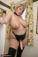 Curvy Claire. Strap-On On The Stairs Pt2 Free Pic 8