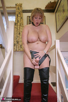 Curvy Claire. Strap-On On The Stairs Pt2 Free Pic 10