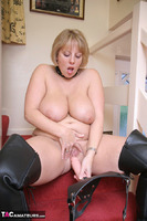 Curvy Claire. Strap-On On The Stairs Pt2 Free Pic 13