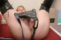 Curvy Claire. Strap-On On The Stairs Pt2 Free Pic 16