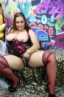 Kimberly Scott. Burgandy Satin & Sheer Black Teddy Pt1 Free Pic 18