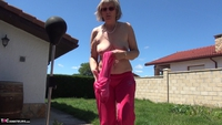 Abby Roberts. Garden Boxing and Sunbathing Free Pic 5