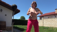 Abby Roberts. Garden Boxing and Sunbathing Free Pic 6