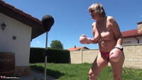 Abby Roberts. Garden Boxing and Sunbathing Free Pic 8
