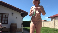 Abby Roberts. Garden Boxing and Sunbathing Free Pic 14