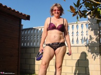 Abby Roberts. Garden Boxing and Sunbathing Free Pic 16