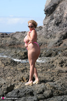 Curvy Claire. Mankini On The Rocks Pt1 Free Pic 10