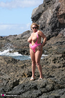 Curvy Claire. Mankini On The Rocks Pt1 Free Pic 12